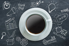 Coffee time ideas Royalty Free Stock Image