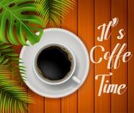 Coffee time illustration royalty free illustration