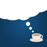 Coffee time illustration with cloud dreams Stock Photo