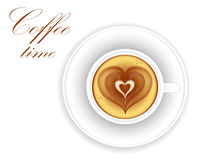 Coffee heart stock vector. Illustration of sketch ...