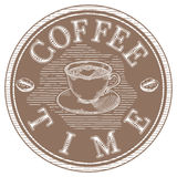 Coffee time label Royalty Free Stock Image