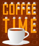 Coffee time layout Royalty Free Stock Images