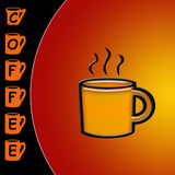 Coffee time. Coffee mug with text of Coffee Time written stock illustration