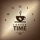 Coffee time. Over broze backgrround vector illustration Royalty Free Stock Photo
