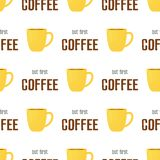 Coffee time pattern stock illustration