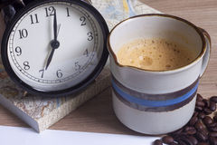 Coffee time personal notebook Royalty Free Stock Photo