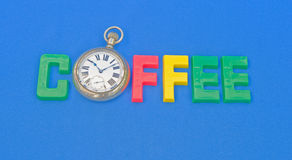 Coffee time: possible logo. Royalty Free Stock Photos