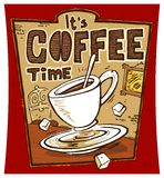 Coffee Time Poster. Poster with It's Coffee Time theme Royalty Free Stock Photo