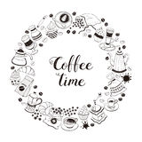 Coffee time poster Royalty Free Stock Photos