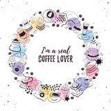 Coffee time poster Royalty Free Stock Image