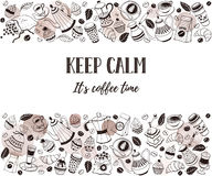 Coffee time poster royalty free illustration