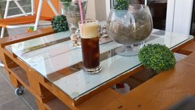 Coffee time. Relax with cold coffee espresso Stock Images
