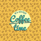 Coffee time retro design Royalty Free Stock Image