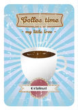 Coffee time retro poster Stock Photography