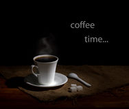 Coffee time in retro style Royalty Free Stock Photos
