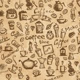 Coffee time, seamless background grunge for your Royalty Free Stock Images