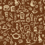 Coffee time, seamless background for your design Royalty Free Stock Photo