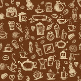 Coffee time, seamless background for your design Royalty Free Stock Images