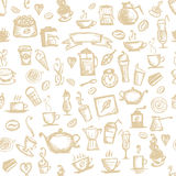 Coffee time, seamless background for your design Stock Photos