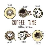 `Coffee time` set in the style of craft. Stock Photography