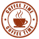 Coffee time stamp Stock Photos