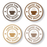 Coffee Time Stamp Labels Stock Photo