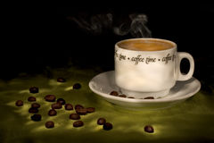 Coffee time (steaming hot coffee) Stock Image