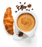 Coffee time, top view Stock Photography