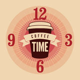 Coffee Time typographical vintage style poster. Retro vector illustration. Royalty Free Stock Images
