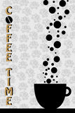 Coffee time - vector. Illustration of a Coffee Time background,witf a cup of coffee,useful as poster or brochure.EPS file available Royalty Free Stock Photo