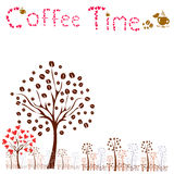 Coffee time. vector coffee concept Royalty Free Stock Images