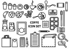 Coffee time vector icons set Stock Images