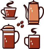 Coffee time (Vector illustration) Stock Photo