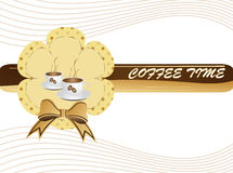 Coffee time. Vector illustration of cup of coffee Stock Image
