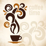 Coffee Time Vintage Illustration Stock Image