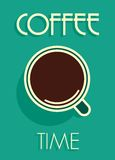 Coffee time vintage poster royalty free illustration