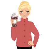 Coffee time Woman Royalty Free Stock Photography