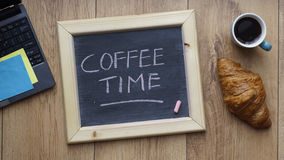 Coffee time written Stock Photography