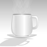 Coffee-Timeout. Cup of coffee on a white table Royalty Free Stock Photo