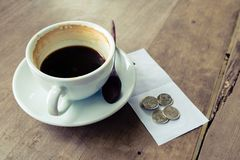 Coffee tip Royalty Free Stock Image