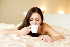 Coffee to bed Stock Images