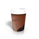 Coffee to Go. 3d render of a coffee cup to go Stock Image