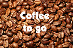 Coffee to go. A sales promotion royalty free stock images