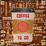 Coffee to go advertising sign Stock Images