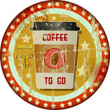 Coffee to go advertising sign Royalty Free Stock Photo