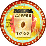 Coffee to go advertising sign, Royalty Free Stock Images