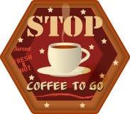 Coffee to go advertising sign Stock Photos