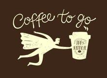 Coffee to go cartoon illustration Stock Photos