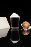 Coffee to go cup with croissant Stock Images