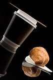 Coffee to go cup with croissant Royalty Free Stock Photography